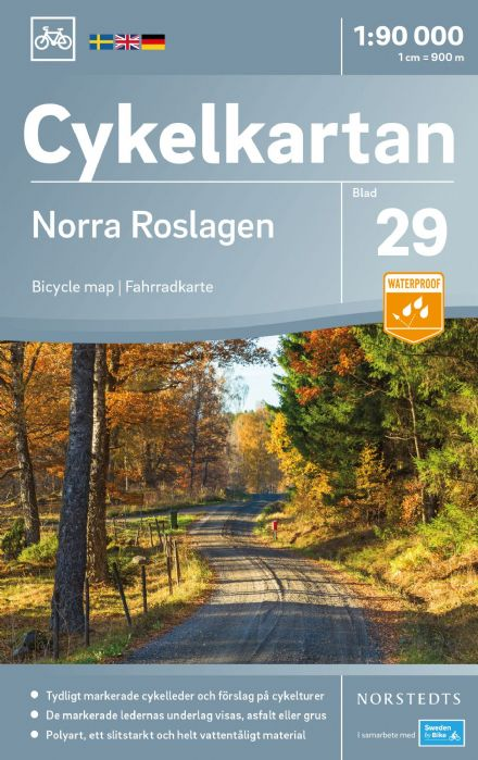 Sweden Cycling Map 29 - Roslagen North